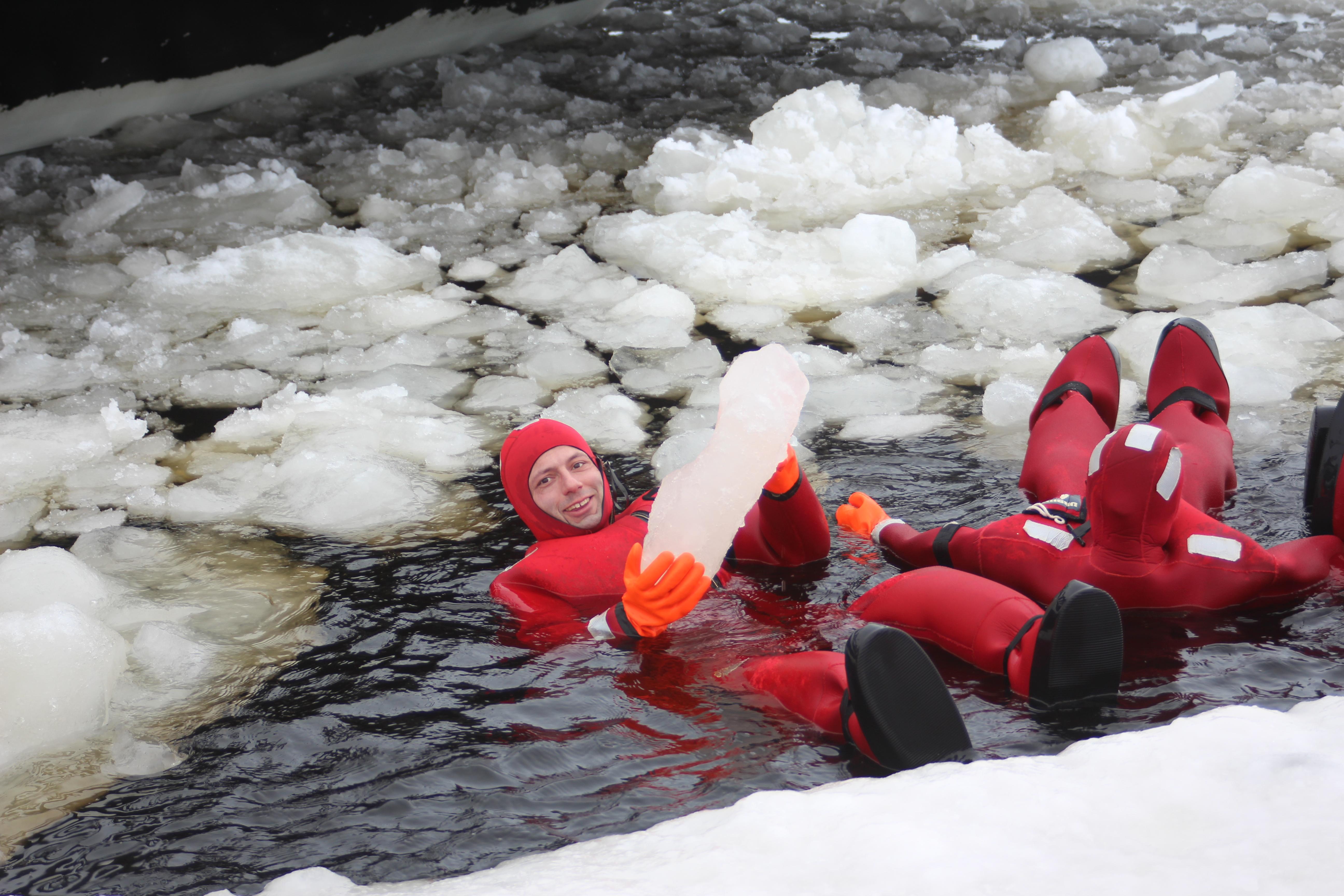 Bad im Polarmeer